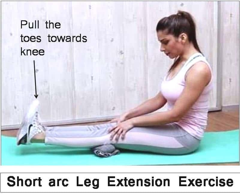 short arc leg extension knee pain exercises